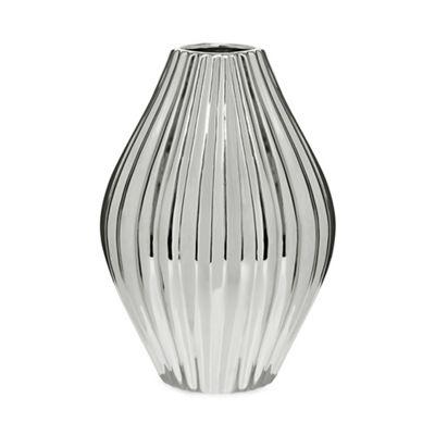 Rjrhn Rocha Silver Shell Vase Debenhams