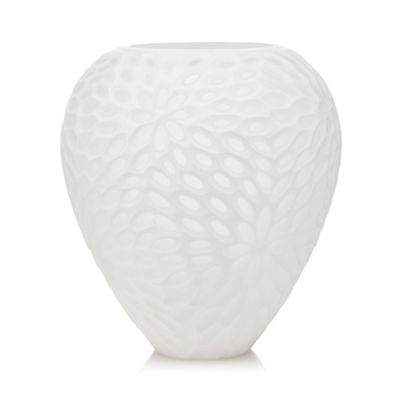 Rjrhn Rocha White Textured Oval Vase Debenhams