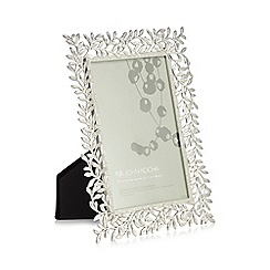 RJR.John Rocha - Silver laurel leaf photo frame