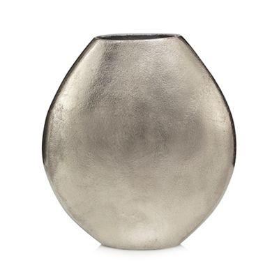 Rjrhn Rocha Large Silver Metal Oval Vase Debenhams