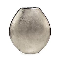 RJR.John Rocha - Large silver metal oval vase