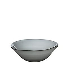 RJR.John Rocha - Blue frosted glass bowl