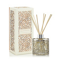 RJR.John Rocha - Silver floral cut out spiced ginger and mandarin diffuser