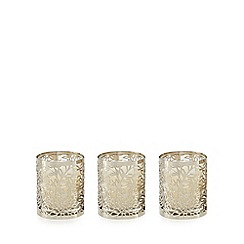 RJR.John Rocha - Pack of three spiced ginger and mandarin scented votive candles