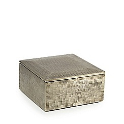 RJR.John Rocha - Silver metal hammered box