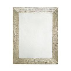 RJR.John Rocha - Silver hammered metal mirror