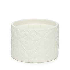 RJR.John Rocha - Large white ginger spice and mandarin scented candle