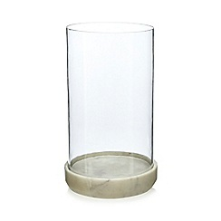 J by Jasper Conran - Glass and marble 'Mid Century' hurricane candle holder