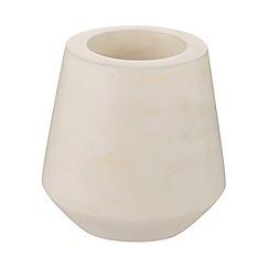 J by Jasper Conran - White marble 'Mid Century' tea light holder