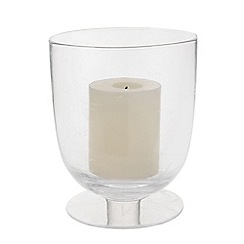 J by Jasper Conran - Medium glass 'Mid Century' hurricane lamp and pillar candle set