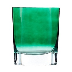 J by Jasper Conran - Green 'Mid Century' oval glass vase