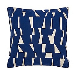 J by Jasper Conran - Navy velvet 'Mid Century' cushion