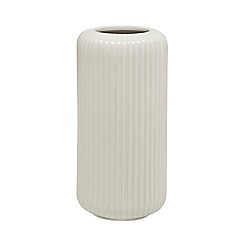 J by Jasper Conran - Cream ceramic 'Mid Century' ribbed vase