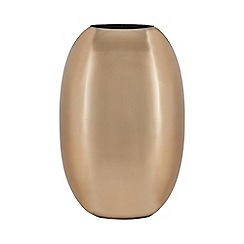 J by Jasper Conran - Gold metal oval vase