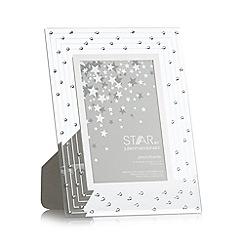 Star by Julien Macdonald - Designer silver glass Swarovski crystal photo frame
