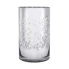 Star by Julien Macdonald - Glass 'Amelie' lace hurricane candle holder