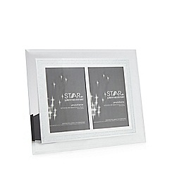 Star by Julien Macdonald - Glass glitter border double photo frame