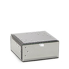 Star by Julien Macdonald - Silver small smoked diamante jewellery box