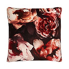Star by Julien Macdonald - Multicoloured winter bloom print cushion