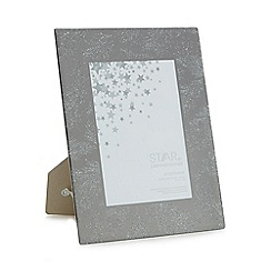 Star by Julien Macdonald - Glass 'Aurora' glitter feather photo frame