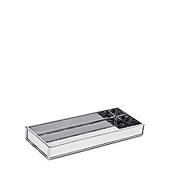 Star by Julien Macdonald - Silver glass 'Aurora' tray