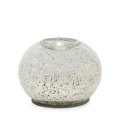 Star by Julien Macdonald - Silver crackle tea light holder