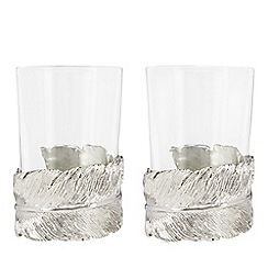 Star by Julien Macdonald - Set of 2 feather tea light holders