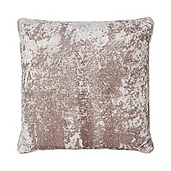 Star by Julien Macdonald - Fawn crushed velvet cushion