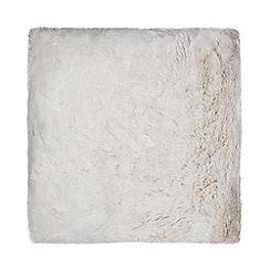 Star by Julien Macdonald - Silver faux fur cushion