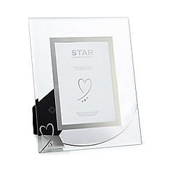 Star by Julien Macdonald - Silver heart photo frame