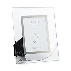 Star by Julien Macdonald - Silver heart photo frame