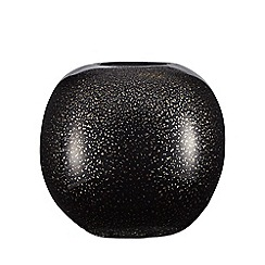 Star by Julien Macdonald - Black and gold flecked ball vase