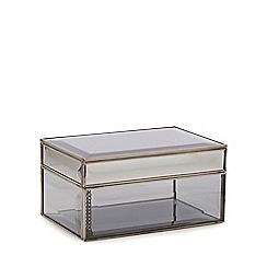 Star by Julien Macdonald - Medium silver bevelled glass trinket box