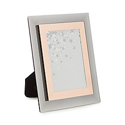 Star by Julien Macdonald - Rose gold mirrored glass photo frame