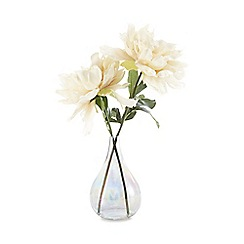 Star by Julien Macdonald - Iridescent vase with artificial white peonies