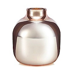 Home Collection - Rose gold glass bud vase
