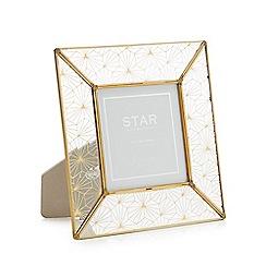 Star by Julien Macdonald - Gold Geometric Design Photo Frame