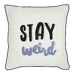 Ben de Lisi Home - Turquoise 'Stay weird' cushion