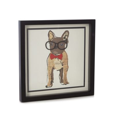 Ben de lisi home designer dog with glasses wall art debenhams