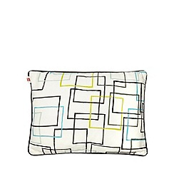 Ben de Lisi Home - White geometric line print cushion
