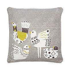 Ben de Lisi Home - Grey and yellow bird print cushion