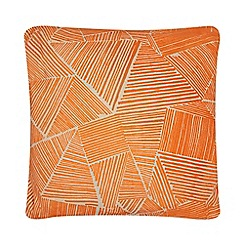 Ben de Lisi Home - Orange flocked geometric cushion