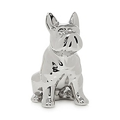 Ben de Lisi Home - Silver sitting dog ornament