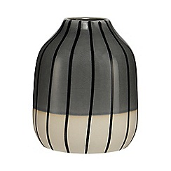Ben de Lisi Home - Grey striped small vase