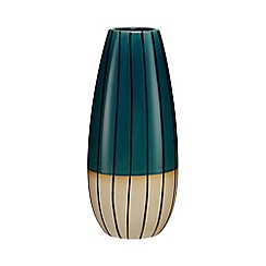 Ben de Lisi Home - Green striped tall vase