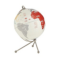 Ben de Lisi Home - White globe print ornament