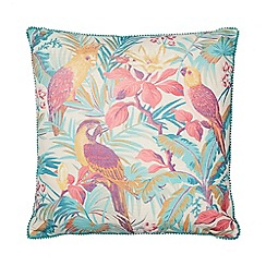 Butterfly Home by Matthew Williamson - Multicoloured printed 'Macaw' cushion