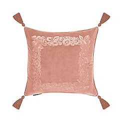 MW by Matthew Williamson - Pale pink velvet 'Alicia' cushion