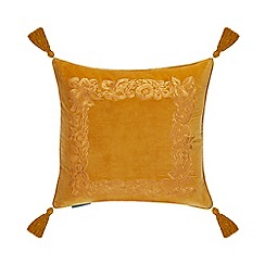 MW by Matthew Williamson - Pale yellow velvet 'Alicia' cushion