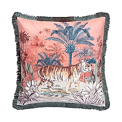 MW by Matthew Williamson - Multicoloured tiger print velvet feather filled cushion